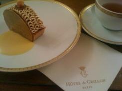 Buche de Noël à l'Hôtel De Crillon