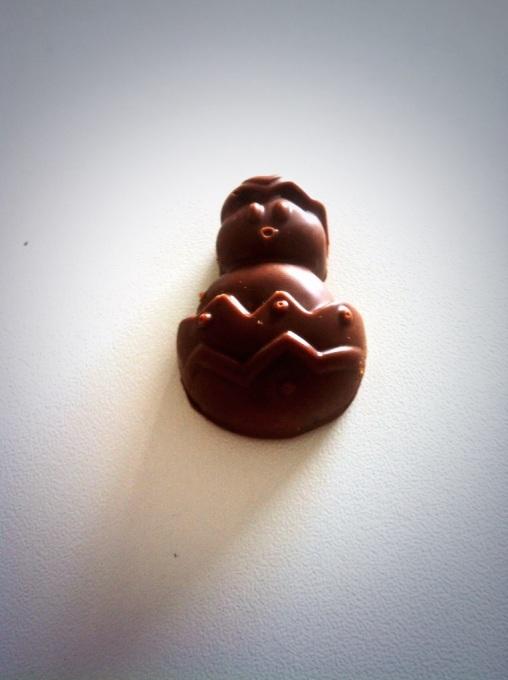Chocolat de Pâques coeur praliné