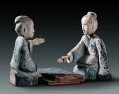 Joueurs de liubo - Exposition Splendeurs des Han - Musée Guimet