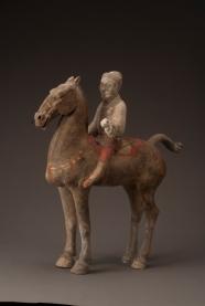 Figurine de cavalier - Exposition Splendeurs des Han - Musée Guimet