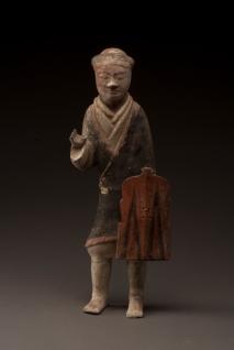 Figurine de fantassin - Exposition Splendeurs des Han - Musée Guimet